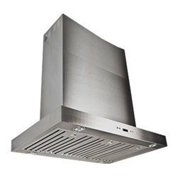 "Proline - Proline PLFI 750 Island Range Hood, 54 - The PLFI 750.54 Series provides easy Installation & one of the only Large Island Hood models that can be used Ductless! This is our Super Low Profile, Sleek, All Stainless, Contemporary Design, Island Range Hood. This Attractive and Versatile Island Range Hood looks and works great in any size. Elegant LCD Touch Controls, with Time Delay and 6 speeds from 300 cfm up to 1100 cfm, this hood has the power to handle the largest cooktops efficiently and quietly. Easy to Install and super low maintenance, this Island Hood is available in multiple sizes (36"", 42"", 48"", 54"" and 60"") and is one of the very few large format hoods available as a ductless model. Stainless Baffle Filters that are easy to remove and clean, and the quietest 300 CFM setting in the industry. (Based on comparable size and local blower capacity). And power when you need it with 1100 CFM total capacity. This Island Range Hood comes with dual blowers and fan completely installed, and factory tested. This makes the installation one of the easiest in the industry and can accommodate ceiling heights from 7' (may need a custom cut) up to 10' with extensions available."