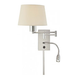 George Kovacs - 1 Light Swing Arm Wall Lamp w/ Reading Lamp - 1 Light Swing Arm Wall Lamp w/ Reading Lamp
