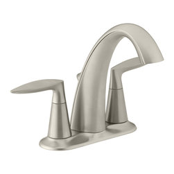KOHLER - KOHLER K-45100-4-BN Alteo Centerset Bathroom Sink Faucet - KOHLER K-45100-4-BN Alteo Centerset Bathroom Sink Faucet in Vibrant Brushed Nickel