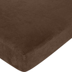 Western Cowgirl Crib Sheet - Chocolate Microsuede