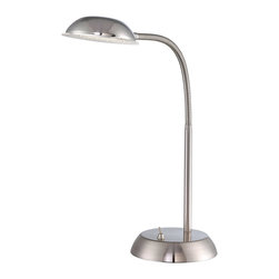 Lite Source - Lite Source LS-22201PS Eladio 36 Light Desk Lamps in Polished Steel - Led Desk Lamp, Ps, Type Led Bulb 2.8W (0.08W*36Pcs)