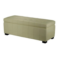Safavieh Manhattan Storage Bench - Cream Leather