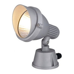 """SLV Lighting - SLV Lighting Easylite Spot E27 Portable Outdoor Luminaire - The Easylite Spot E27 was designed in Germany. Suitable for many purposes both residential and commercial application. This adjustable low voltage garden spot light can be ceiling, wall or floor mounted with 90 degree variable tilt. Perfectly compliment any outdoor display in elegant finish made of aluminum material. Ideal for lighting ponds and flower beds etc. Fittings are supplied as single unit. Safety class 3 unit with pre-wired with 3m cable.  Product Details: The Easylite Spot E27 was designed in Germany. Suitable for many purposes both residential and commercial application. This adjustable low voltage garden spot light can be ceiling, wall or floor mounted with 90 degree variable tilt. Perfectly compliment any outdoor display in elegant finish made of aluminum material. Ideal for lighting ponds and flower beds etc. Fittings are supplied as single unit. Safety class 3 unit with pre-wired with 3m cable. Note: Lamp head is rotatable by loosening the bolted connection in the connection box. Details:                                     Dimensions:                                     Product-H: 0.9"""" (2.28 cm) X Head-�: 7"""" (17.78 cm) x Length: 9.8"""" (24.89 cm)             Base-�: 5.1"""" (12.95 cm) x Height: 3.1"""" (7.87 cm)                                                     Light bulb:                                     1 x 11W E26 Self ballasted CFL(excl.)                                                     Material:                                     Aluminum                         ETL - listed certified for use in U.S., Canada and all other countries worldwide."""