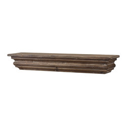 Uttermost - Agustin Shelf - Short on display space? This rustic floating shelf is a charming choice for showcasing your favorite decorative pieces.