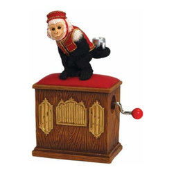 "WL - 4"" Organ Grinder Design Hand Crank with Monkey in Red Vest Figurine - This gorgeous 4"" Organ Grinder Design Hand Crank with Monkey in Red Vest Figurine has the finest details and highest quality you will find anywhere! 4"" Organ Grinder Design Hand Crank with Monkey in Red Vest Figurine is truly remarkable."