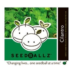 Seedballz Cilantro - 8 Pack - Plant fun with Seedballz! Inspired by soil scientist Masanobu Fukuoka, author of  The One -Straw Revolution , SeedBallz began mixing a special blend of rich organic humus, a whole packet of seeds and clay to offer the gardener a new way to grow wildflowers and herbs. SeedBallz are so unique, they grow in clusters rather than single seeds! These little balls are made of an all-natural mixture of seeds, red clay, and soil humus. The clay protects the seeds from drying out and being taken by birds or insects. This pack of Seedballz is packed with seeds designed to attract hummingbirds and butterfly. They are rolled in an all-natural, protective growing blend designed to nourish your flowers. Adults with developmental disabilities prepare and package each ball by hand, right here in the USA. Each package contains 8 SeedBallz.
