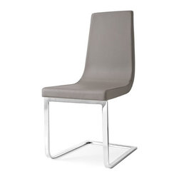 Calligaris | Cruiser Leather Cantilever Side Chair - Quick Ship -