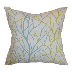 "The Pillow Collection - Fderik Trees Pillow Aqua Green - Stylize your room with a simple and chic throw pillow. This square pillow evokes a clean style with its simple and refreshing colors in aqua blue and green set against a white background. This decor pillows will surely change up your interiors with its beautiful design. This 18"" pillow is made from 100% soft cotton fabric. Toss this in your sofa, bed or floor for comfort and style. Hidden zipper closure for easy cover removal.  Knife edge finish on all four sides.  Reversible pillow with the same fabric on the back side.  Spot cleaning suggested."
