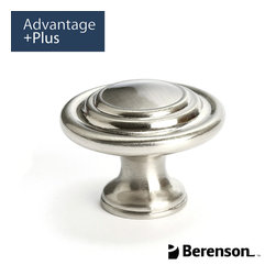 0931-IBPN-P Brushed Nickel Cabinet Knob by Berenson - Traditional style cabinet knob featured in brushed nickel. This collection has a classic elegance that allows it to accent well with light and neutral colors. It has strong elements of symmetry which adds to the formality of design spaces. Intricate details are evident and shapes are soft with smooth edges that blend together seamlessly