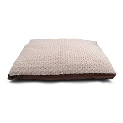 """Brinkmann - Brinkmann Gusseted Faux Fur Pet Bed - WG2736-M580.1 - Shop for Outdoor from Hayneedle.com! Eye catching and super soft best describe this luxurious 27"""" x 36"""" Gusseted Pet Bed. Features a soft plush sleep area with a faxu suede gusset and durable nylon bottom. Filled with Eco-First recycled fiber fill for supreme comfort. Easy to care for removable cover is machine washable and dryer safe."""