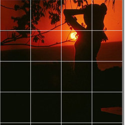 Picture-Tiles, LLC - Sunsets Photo Backsplash Tile Mural 30 - * MURAL SIZE: 48x32 inch tile mural using (24) 8x8 ceramic tiles-satin finish.