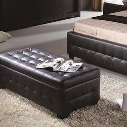 Diamond Sofa - Dual Tension Hinged Storage Trunk in Bonded L - Color: MoccaProvides space conscious seating or storage. Dual tension hinges for the lid. Made of Bonded leather. Pictured in Mocca. 22 in. W x 47 in. L x 17 in. H (63 lbs.)