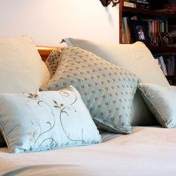 Master Bedroom - Custom pillows.