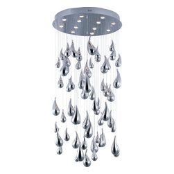 Maxim - Maxim 39860 Rain LED 12 Light 1 Tier LED Chandelier - Product Features:
