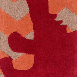 "Surya - Surya Budding BUD-2007 (Burgundy, Burnt Orange) 3'6"" x 5'6"" Rug - This Hand Tufted rug would make a great addition to any room in the house. The plush feel and durability of this rug will make it a must for your home. Free Shipping - Quick Delivery - Satisfaction Guaranteed"