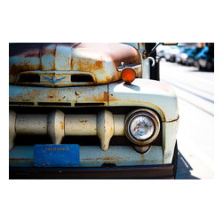 Custom Photo Factory - Rusty Street Parked on City Street Canvas Wall Art - Rusty Street Parked on City Street  Size: 20 Inches x 30 Inches . Ready to Hang on 1.5 Inch Thick Wooden Frame. 30 Day Money Back Guarantee. Made in America-Los Angeles, CA. High Quality, Archival Museum Grade Canvas. Will last 150 Plus Years Without Fading. High quality canvas art print using archival inks and museum grade canvas. Archival quality canvas print will last over 150 years without fading. Canvas reproduction comes in different sizes. Gallery-wrapped style: the entire print is wrapped around 1.5 inch thick wooden frame. We use the highest quality pine wood available. By purchasing this canvas art photo, you agree it's for personal use only and it's not for republication, re-transmission, reproduction or other use.