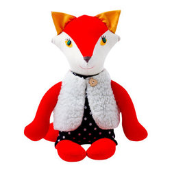 Joyful river - Joyful fox, Red with White Fur Gilet - These beautiful foxes are a special collaboration between Sunday in color and Joyful river!