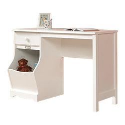 Sauder - Sauder Pogo Desk in Soft White Finish - Sauder - Kid Desks - 414435 -   About The Sauder Pogo Collection: