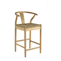 Fahari- Counter Stools - Fahari- Solid Oak Counter Stools.  Bleached Finish with Modern Asian Styling