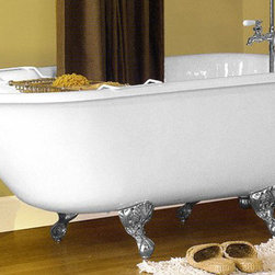 Sunrise Specialty Classic Clawfoot Tub - 54-inch Classic Clawfoot Tub with Wall Faucet Drillings