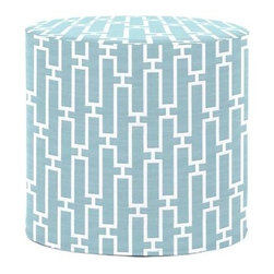 Howard Elliott Bahama Breeze No Tip Cylinder Ottoman - The No-Tip Cylinder is constructed with a dense light-weight foam and then topped off by a soft, high quality foam making it sturdy yet comfortable. Its unique design allows weight to be distributed evenly keeping it from tipping like most foam ottomans. Another bonus? This piece is indoor/outdoor so you can take it outside!