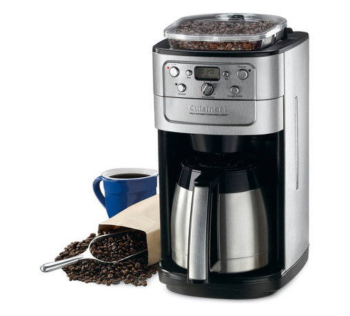 Cuisinart - Cuisinart DGB-900BC 12-cup Grind and Brew Coffeemaker - Make coffee from newly ground beans without having to grind them up yourself with this Cuisinart 12-cup coffee maker. The coffee maker features a grind-and-brew system that grinds the beans immediately before brewing for an incredibly fresh taste.