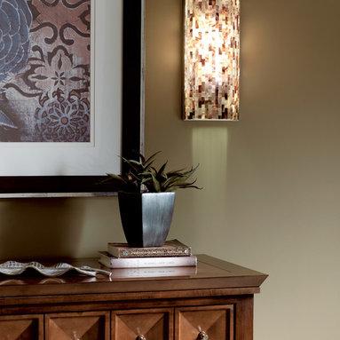 Tech Lighting - Tech Lighting 700WSPLAFBZ Playa Flush Wall Sconce w/ Brown Shell Shade -