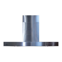 "Spagna Vetro - SPAGNA VETRO 30; SV198Z-30 Wall-Mounted Stainless Steel Range Hood - Mounting version - Wall Mounted 860 CFM centrifugal blower  Three-speed mechanical, soft-touch push button control panel Two 35W halogen lights (Type: GU-10)  Aluminum multi-layers micro-cell dishwasher-friendly grease filter(s) Machine crafted stainless steel (brushed finish) 6"" round duct vent exhaust and back draft damper  Convertible to duct-free operation (requires optional charcoal filter) Telescopic flue accommodates 8ft to 9ft ceilings (optional flue extension available for up to 10ft ceiling)  Full Seamless Stainless Steel For residential use only, one-year limited factory warranty"