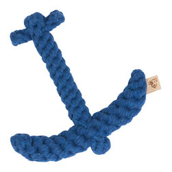 "Anchor Dog Toy - 7"" - Coastally themed and perfect to toss around the beach house with your furry friend, our Anchor Rope Dog Toy is sure to be a favorite of your dogs and yours. Pleasing to the eye, these fun toys do double duty as their colorful and whimsical shapes add a fun flair to any space."