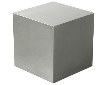 Modern Side Tables And End Tables Gus Modern Stainless Steel Cube