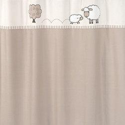 Sweet Jojo Designs - Little Lamb Shower Curtain by Sweet Jojo Designs - The Little Lamb Shower Curtain by Sweet Jojo Designs, along with the  bedding accessories.