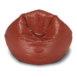 ABC Lifestyle - Matte Bean Bag in Red - Classic design. Easy to clean. Durable. Can easily be refilled. Made from vinyl. Stuffed with 100-percent polystyrene beads. 28 in. L x 28 in. W x 28 in. H. the bag has a volume of 6-1/2 cubes