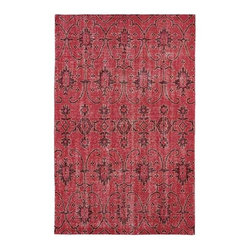 Kaleen Rugs - Restoration Red Rectangular: 5 Ft. 6 In. x 8 Ft. 6 In. Rug - - The Restoration collection puts the finishing touches on a classic reproduction for some of the most unique rugs in the world. Hand-knotted in India of 100% wool, each rug is intentionally distressed by hand-shearing for authenticity, over-dyed colors for beautiful style, and complete with the smallest little details for the perfect replica of a vintage antique rug. A 100% natural green product and completely free of any latex materials  - Classic Reproduction  - Hand-Knotted Antique Replica  - Pile Height: 0.12-Inch  - Square Feet: 46.75  - Cleaning/Care: Spot clean as needed or for best results please contact a local area rug cleaning professional  - Detailed Rug Colors: Raspberry, Burgundy and Milk Chocolate Brown Kaleen Rugs - RES01-25-5686