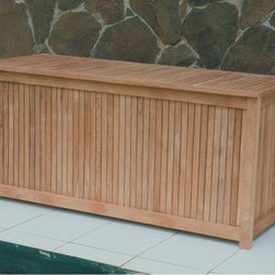 Royal Teak Collection - Royal Teak Storage Box Multicolor - STBX - Shop for Sheds and Storage from Hayneedle.com! Patios and pool decks tend to get cluttered. Luckily the Royal Teak Storage Box is here to help you get organized. Perfect for patio furniture cushions pool toys garden tools and other yard accessories this beautiful storage box is crafted from solid teak wood a material highly sought-after for outdoor furniture. The slatted sides and hinged lid create an attractive box that's easy to access. Ventilated sides allow air to flow through which helps prevent mildew from building up inside. A plastic liner provides an extra layer of protection for your box contents. Some assembly required. About TeakTeak wood is universally recognized for its quality durability and beauty. Teak is a very hard densely grained wood with high oil content. The unique combination of these characteristics makes teak naturally resistant to moisture rot warping shrinking splintering insects and fungus. It is considered the ideal wood for outdoor furniture. If left untreated teak weathers naturally to a beautiful silver gray color. The weathering process will change the color but the grain will still be smooth. There will be no splitting or splintering. You may treat each piece of your set with teak oil if you wish to retain the original wood color.
