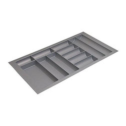 Hafele - 36 in. Cutlery Tray in Silver - Can be trimmed to fit drawer.