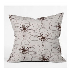 """DENY Designs - Rachael Taylor Tonal Floral Throw Pillow - Wanna transform a serious room into a fun, inviting space? Looking to complete a room full of solids with a unique print? Need to add a pop of color to your dull, lackluster space? Accomplish all of the above with one simple, yet powerful home accessory we like to call the DENY Throw Pillow! Features: -Rachael Taylor collection. -Material: Woven polyester. -Sealed closure. -Top and back color: Print. -Spot treatment with mild detergent. -Made in the USA. -Closure: Concealed zipper with bun insert. -Small dimensions: 16"""" H x 16"""" W x 4"""" D, 3 lbs. -Medium dimensions: 18"""" H x 18"""" W x 5"""" D, 3 lbs. -Large dimensions: 20"""" H x 20"""" W x 6"""" D, 3 lbs."""
