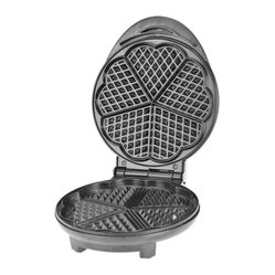 Heart-shaped Waffle Press, Black