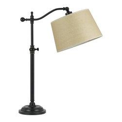 Cal Lighting - Cal Lighting BO-2205TB Wilmington 1 Light Boom Arm Table Lamp - Features: