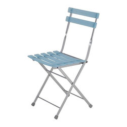 "Eurostyle - Eurostyle Cannes Folding Chair in Blue & Aluminum [Set of 4] - Folding Chair in Blue & Aluminum belongs to Cannes Collection by Eurostyle Enhance your dining room with the Caine Folding Chair Set. Each set consists of four chairs. You'll love the contemporary casual look of this seating. Best of all, these chairs easily fold away for storage. Each chair features an aluminum powder epoxy coated steel frame, with transparent plastic resin slats. Chair seat height is 18"", and each chair can support up to 250 pounds. Comes in Blue and Aluminum. Assembly level/degree of difficulty: No Assembly Required. In the event of a return this item is subject to a restocking fee. Folding Chair (4)"