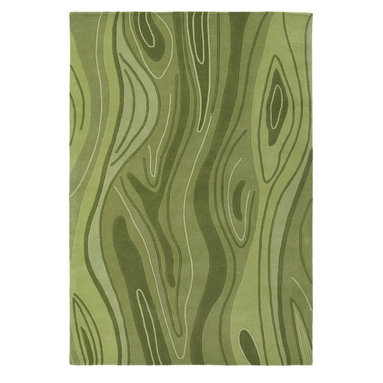 Chandra Rugs - Inhabit Green Multi Rugs - INH21617 - Construction: Hand Tufted