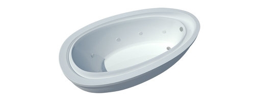 Spa World Corp - Atlantis Tubs 3871BW Breeze 38x71x24 Inch Freestanding Whirlpool Jetted Bathtub - The Breeze whirlpool bathtub series design resembles the water droplet resonance phenomena. The sloped inner edge of the bathtub creates two comfortable inclining armrests. Whirlpool tubs feature jets and recirculating pumps to supply a hydro-therapeutic experience. Whirlpool tubs are designed to provide a more vigorous and comforting massage with jets positioned to direct warm water to areas like the lower and upper back, shoulders and legs. The Atlantis whirlpool hydro therapy configuration consists of symmetrically-allocated, 360� direction-adjustable water jets. System control is located on the entrance side panel, allowing bathers to turn water streams on and off. Freestanding tubs are meant to be proudly displayed rather than crowded in a corner and add character to your bathroom.