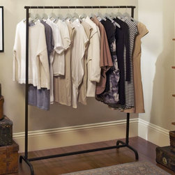 Blacksmith Clothes Rack - If you have space for a garment rack in your laundry area, it's a great way to make a habit of immediately hanging your clothes as soon as they're washed/dried.