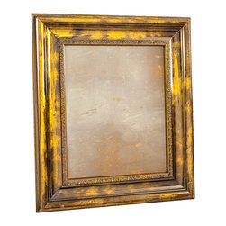 """Art Dallas, Incorporated - Art Dallas Antique Mirror - Golden Girl - An Art Dallas handcrafted """"Golden Girl"""" Antique Mirror framed with our Flash® molding with a gold and black distressed undercoat."""
