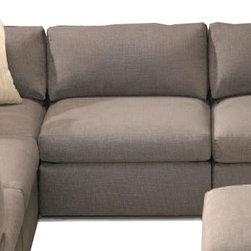 Thayer Coggin - Thayer Coggin | Design Classic Pit Sectional Armless Chair - Design by Milo Baughman.