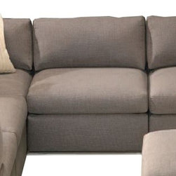 Thayer Coggin - Thayer Coggin | Design Classic Pit Sectional Armless Chair - Design by Milo Baughman.