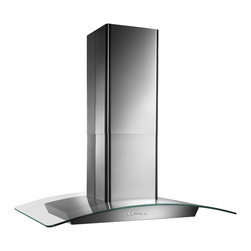 Broan - Broan 36-inch Stainless Contemporay European Glass Island Hood - Update your kitchen decor with this island mount range hood from Broan. This Broan range hood detects excessive heat and adjusts blower to high speed automatically.