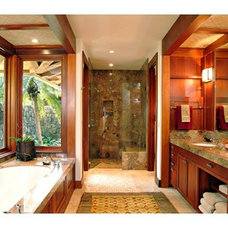 tropical bathroom by Shigetomi Pratt Architects