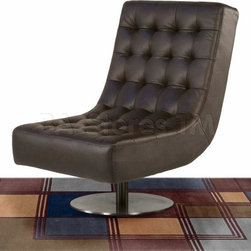 Jazz Swivel Armless Tufted Chair in Mocca - The Jazz Swivel Armless Tufted Chair in Mocca by Diamond Sofa provides a chic, modern style along with comfort and functional ability.