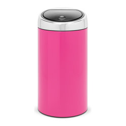 Brabantia - Brabantia Touch Bin®  De Luxe, Radiant Rose - Why not add a pop of color to your kitchen with a sleek trash bin in your choice of nine vibrant colors! One soft touch opens and closes the removable lid, and a removable inner bucket makes cleaning a breeze. There's even a handle for easy moving when the bin is full.