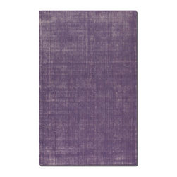 Uttermost - Uttermost Zell 8 x 10 Rug - Purple 73020-8 - Hand Loomed, Over Dyed, Purple Wool With Off-white Undertones.